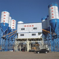 stationary concrete batching plant HZS120 with CE certification, concrete batching plant HZS120 on sale, concrete mixing pl