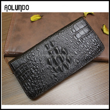hot leather clutch bifold purse wallet crocodile leather wallet cheap leather wallet