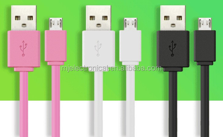 Micro USB Cable with LED Flowing Current for Power Charging sync data with EL technology