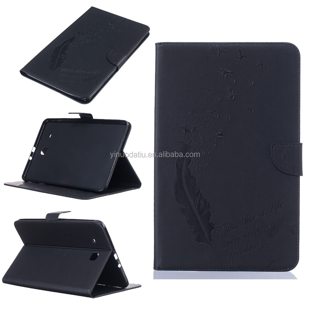 Folding Leather Smart Cover Case 10.1 inch Tablet Clear Back Cover for Samsung Galaxy Tab 4 10.1 T580