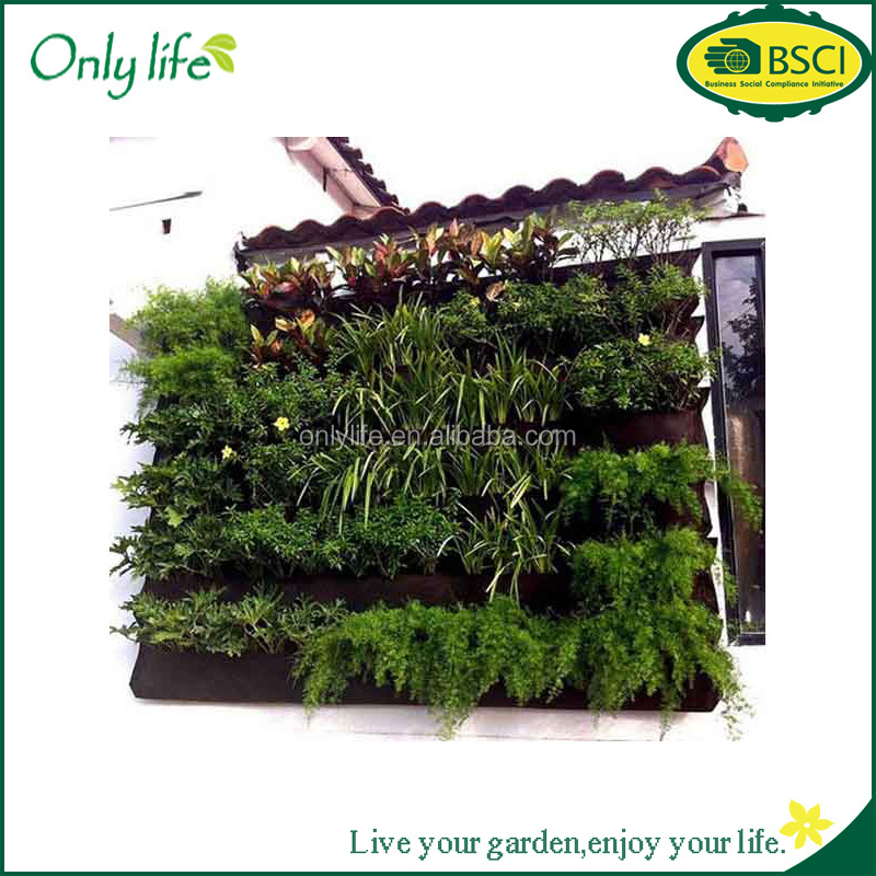 Onlylife vertical garden planter / flora felt living wall planter vertical garden