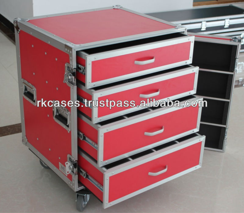 RK flying case drawer with Detachable Cover and wheel board