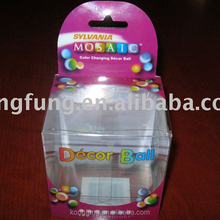 transparent clear plastic folding storage acetate PET packaging box