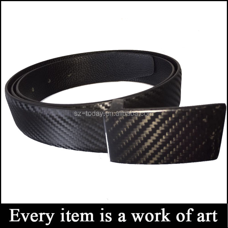 Wholesale OEM / ODM Formal Style Light Plate Buckle Carbon Fiber Mans Waist Belt