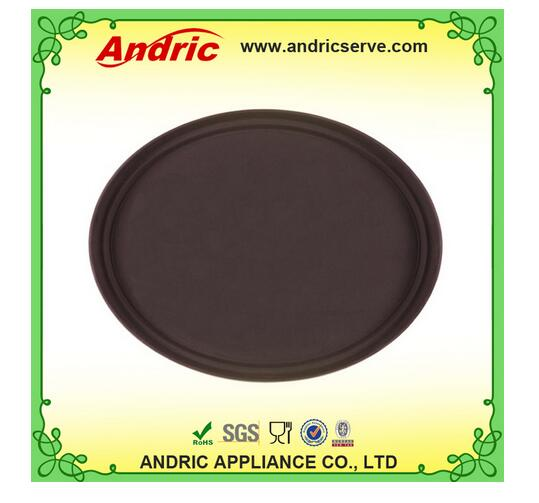 Cheap Cafe and hotel round anti-slip plastic tray