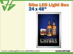wholesales single side acrylic LED aluminum snap poster frames A0,A1,A2,A3,A4
