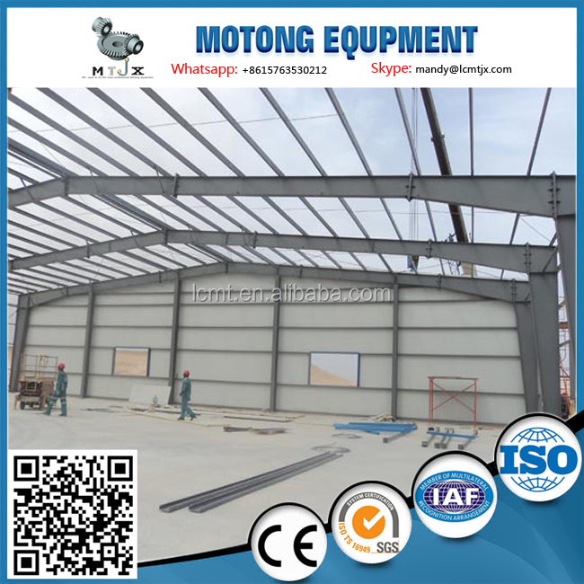 prefab steel structure house for poultry chicken farm building