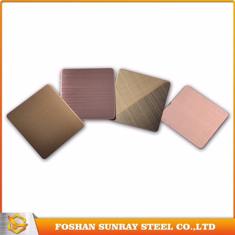 Good quality bronze hairline finish 201 stainless steel sheet price