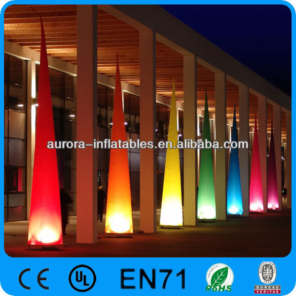 2013 hot selling inflatable events decoration cheap led air cone, inflatable cone light
