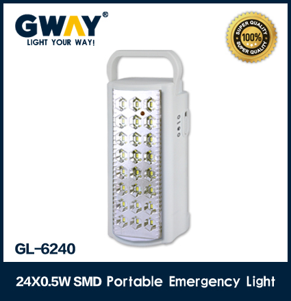 24 pcs SMD portable rechargeable led home emergency light