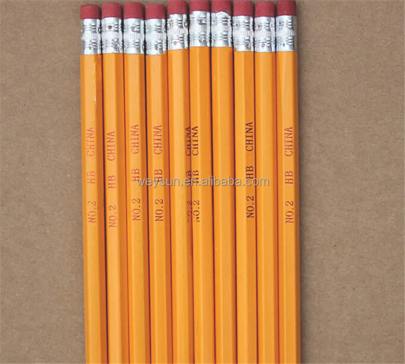 pencils with rubber wooden pencil with eraser