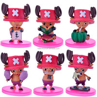 6pcs One Piece Q version pumpkin pink lovely doctor Tonny chopper PVC action figure figurine onepiece Model Collection Toy