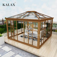 Newest glass aluminum sunroom / prefabricated conservatory with UV protection