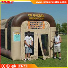 custom inflatable Shooting Gallery/ inflatable paintball shooting range for sale