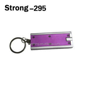 colorful plastic Mini Portable White light Keychain LED Torch