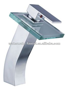 bathroom vessel deck waterfall faucet