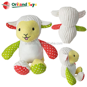 cute white plush sheep animals stuffed baby lambs toys wholesale