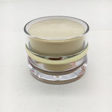Glass cosmetic jar with gold lids clear concetrate container