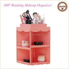 House type princess style rotating cosmetic organizer ABS makeup tools organizer