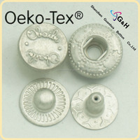 9mm 488# zinc alloy fashion design snap button for baby clothes