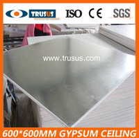 Heat Insulation With Silver Foil Backing PVC Faced gypsum Tile