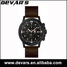 Hot selling t5 devars men leather wrist watches men women,watches men sport