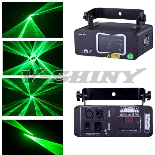 50mw double beam green laser light combo