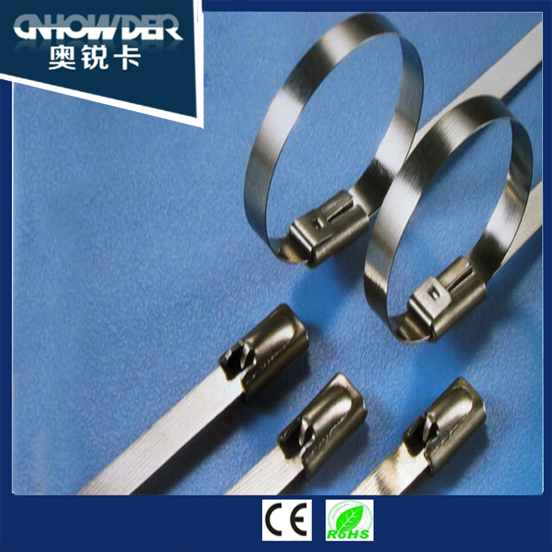 4.6*100 ball lock stainless steel cable <strong>tie</strong> with corrosion resistant