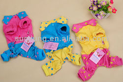 Little Dots Suspender Trousers for Dog, Teddy Pet Wear, Autumn&Winter Dog Clothes 1/3