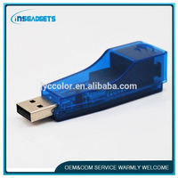 TSJ0015 Ethernet External USB to Lan RJ45 Network Card Adapter 10/100 Mbps For Laptop PC