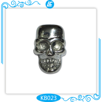 Stainless Steel Gothic Jewelry Vintage Skull Spacer Beads for Bracelets DIY Jewelry Findings