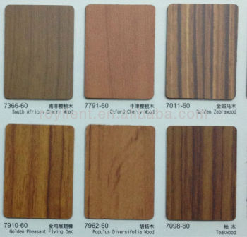Decorative high pressure laminate /HPL/wood grain wall panel