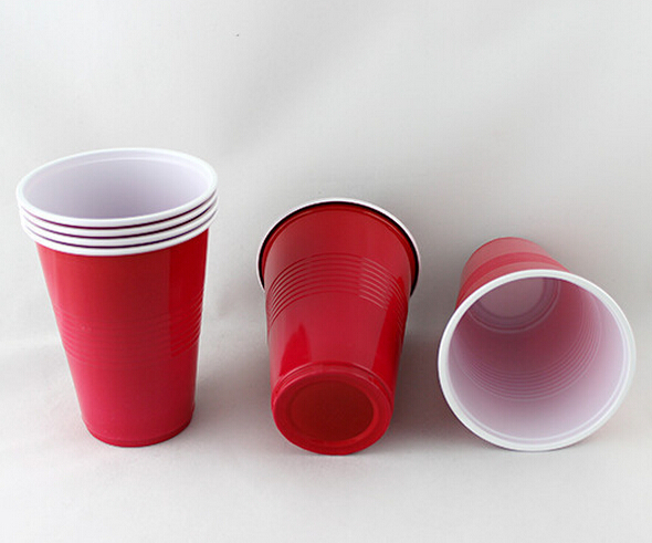 two color 16oz disposable plastic cup