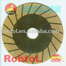Turbo Rim Electroplated Diamond Grinding and Cutting Blade (Golden Color) /cuttimg tool --ELCG