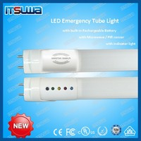 2 feet t8 led tube light pir sensor emergency light rechargeable LED emergency light