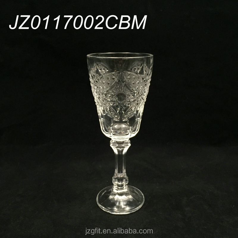 Wholesale 16.5cm elegant clear wine&champagne glass, 140ml glass goblet, elegant drinkware for bar&restaurant