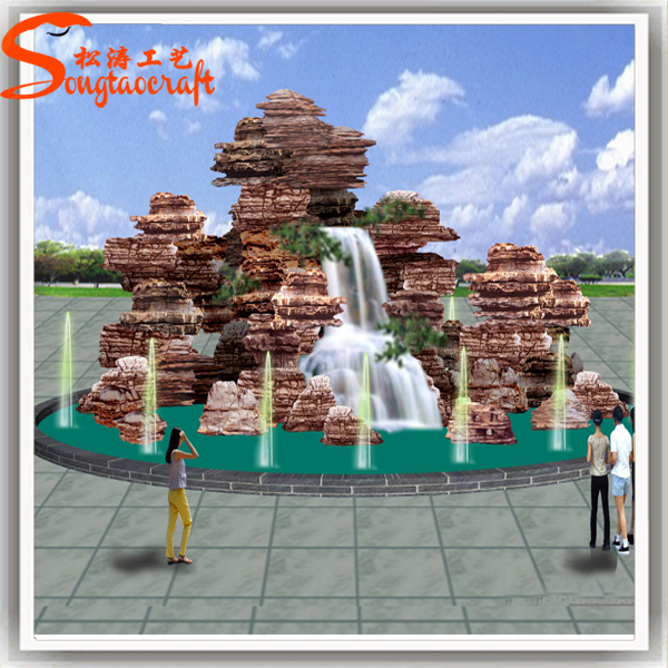 New Products Made In China Factory Wholesale Artificial Fiberglass Outdoor Water Fountain For
