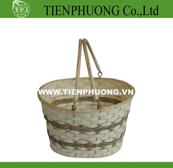 folding wooden fruit basket