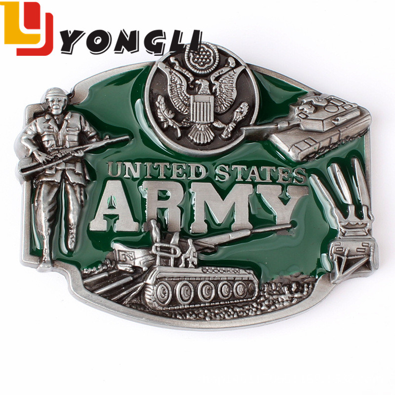 Factory Made Attractive High Quality Custom Zinc Alloy Military Army Metal Belt Buckle