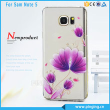 Made in china diamante crystal case for samsung galaxy note5 tpu cell phone case