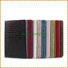Fashion crocodile Pattern leather case for ipad air 2,for iPad 6 case