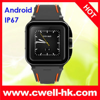 IP67 Waterproof 3G smart watch mobile phone