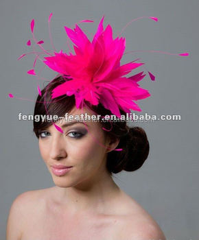 BY-MM304-feather fascinator/ feather mount/ feather headwear/ feather trimming