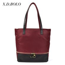 Alibaba Wholesale Express China nylon Waterproof handbags outdoor strong Heavy Duty Nylon Tote Bag shoulder bag for Women