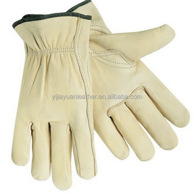 custom cow grain Leather machinist work driving gloves with cheap price