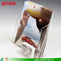 Wholesale acrylic cardboard leaflet holders Perspex literature stand with name card pocket