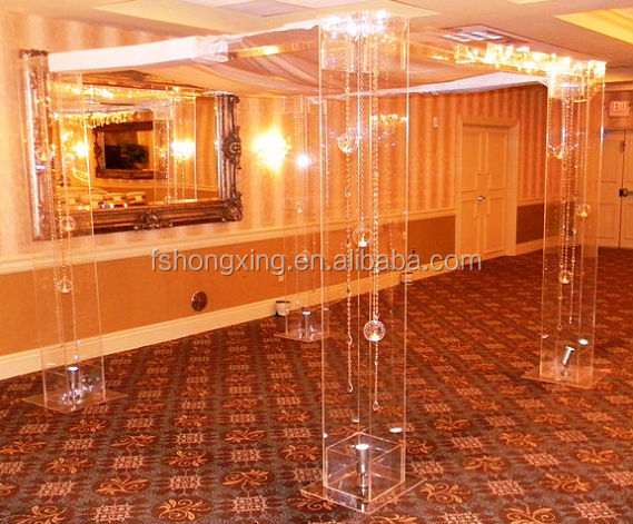 F168 acrylic pillar for wedding and party decoration