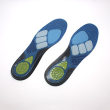 Various colors shock absorption sports gel vibrating insoles
