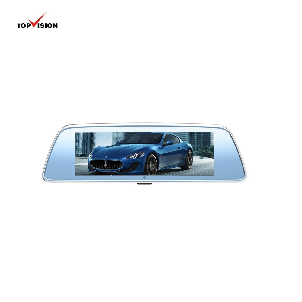 8''1080p car guangdong vehicle traveling automobile data recorder android rearview mirror camera dvr with screen
