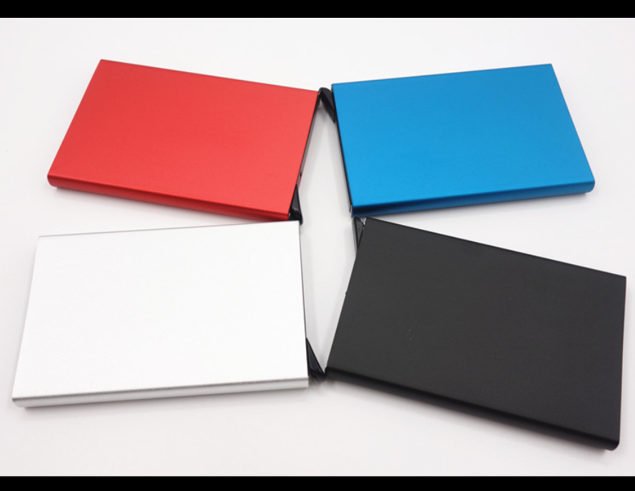 Anodized Aluminum pop up automatic credit card holder
